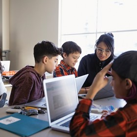 New era, new language: Students solve problems with coding