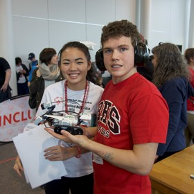 Student-created robotics program brings STEM to all learners