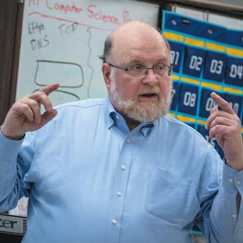 Joe Kmoch – one of ISTE's longest-serving members – has a long history of advocating for computer science in schools.