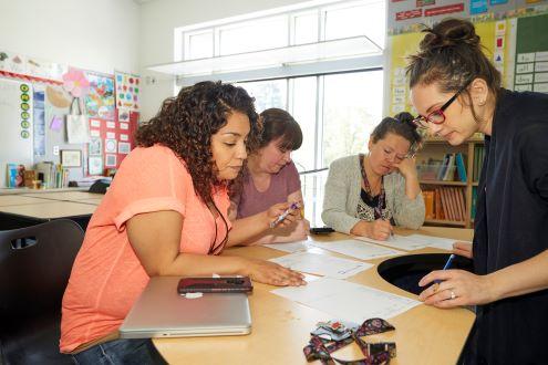 Teachers meet for lesson planning