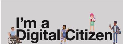 I am a digital citizen graphic