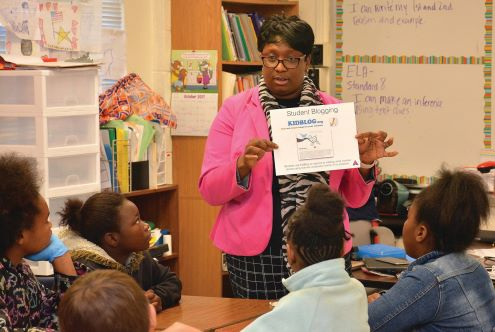 Carla Jefferson teaches in a classroom