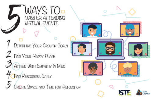 List of 5 ways to master virtual events