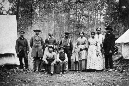 This Smithsonian Museum photo shows slaves freed after Juneteenth