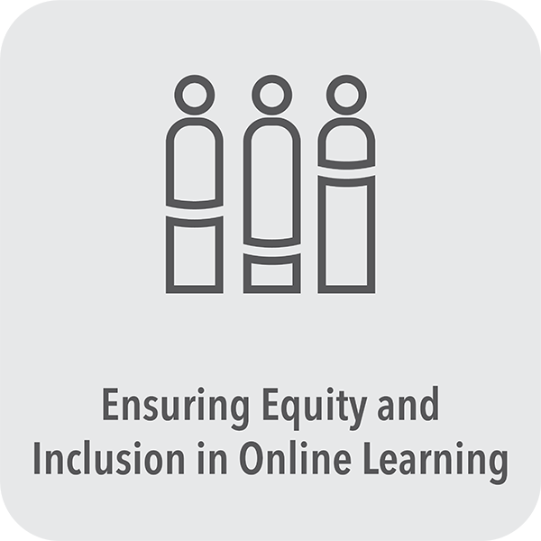 Ensuring equity and inclusion in online learning